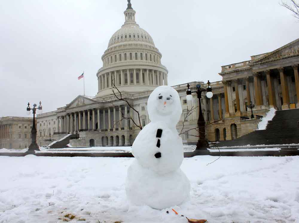 DC Capitol Snow Man