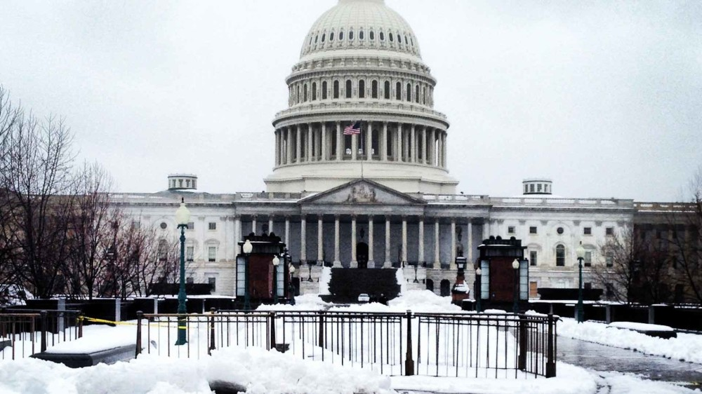 DC US Capitol Snow - February 2014
